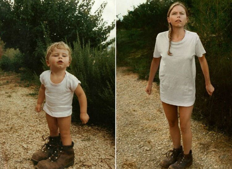 20 Hilarious Before And After Pictures Made By Adults Who Reminisced Their Childhood Years - Never too old to go pantsless