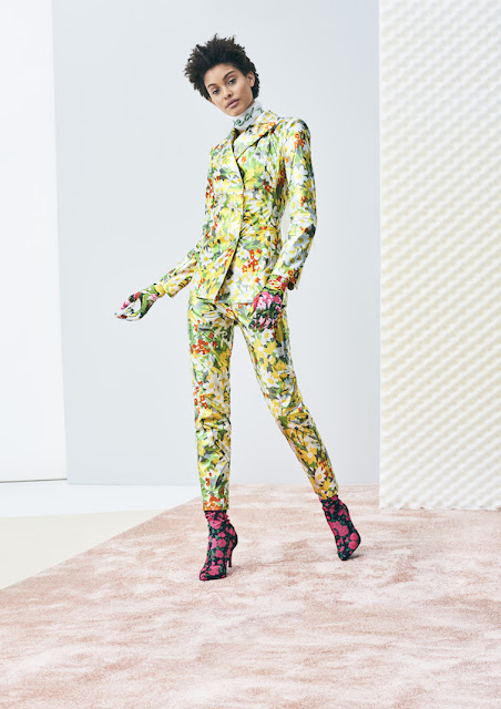 H&M Design Award 2017 - Richard Quinn -  flower printed suit