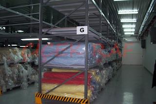 tekstil kumaş sektöründe kullanılan depo raf sistemleri