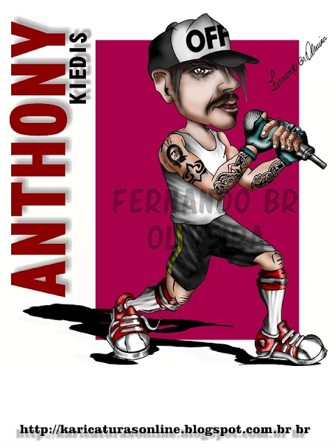 Caricatura Anthony Kiedis-Desenhando caricaturas