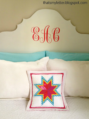 diy lone starburst quilted pillow