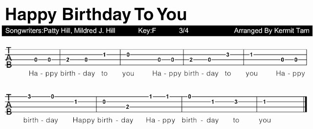 POLYGON 結他CHORD: 生日歌 Happy Birthday Song [ukulele譜]