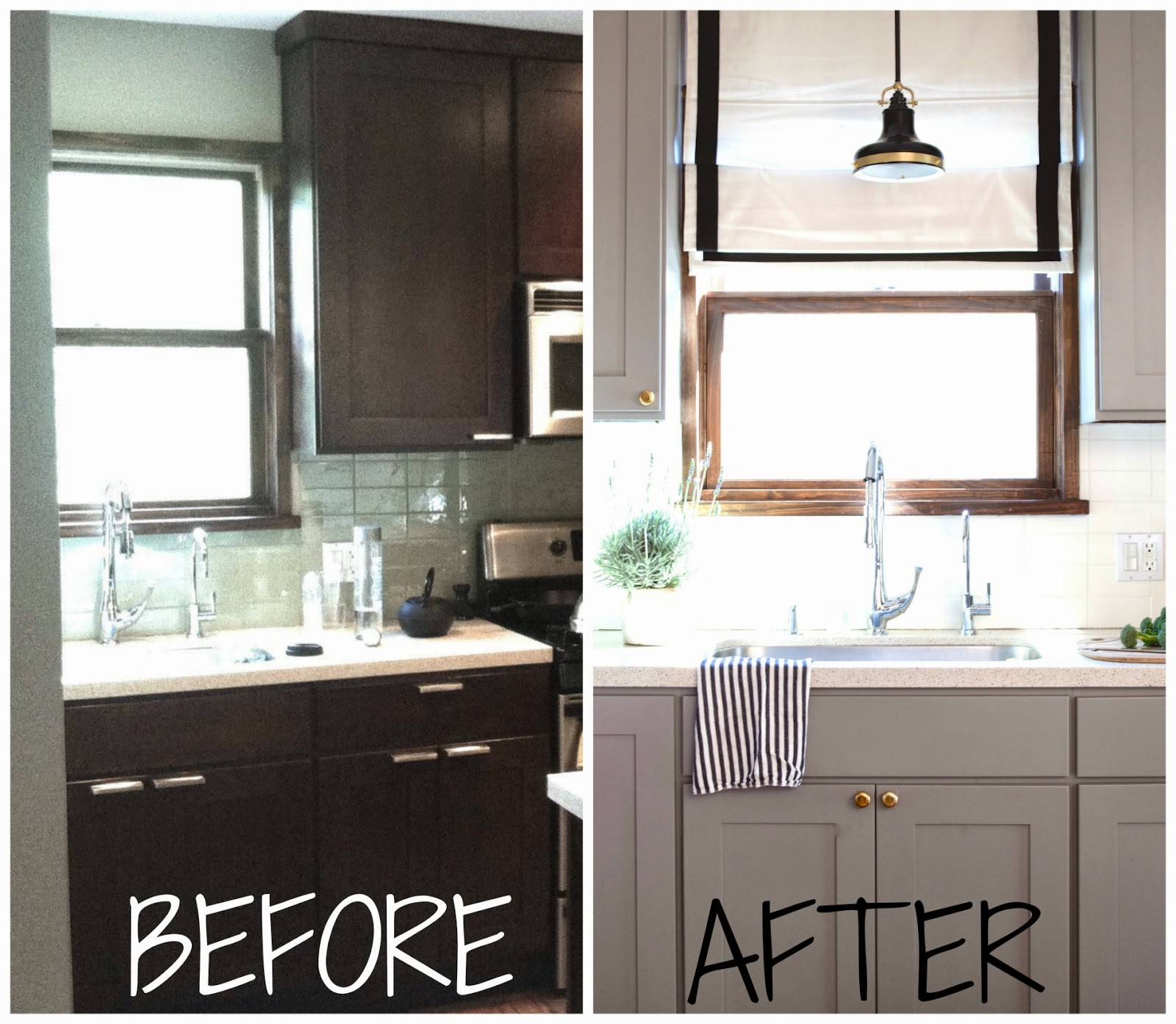 Before And After Painted Kitchen Cabinets: Rosa Beltran Design: MY HOME TOUR PART 2: THE KITCHEN