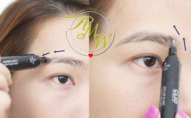 a photo of CLIO Tinted Tattoo Kill Brow application