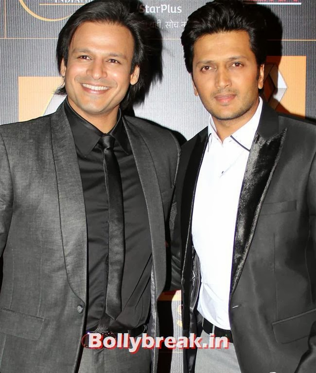 Vivek Oberoi and Ritesh Deshmukh, Star Guild Awards 2014 Pics