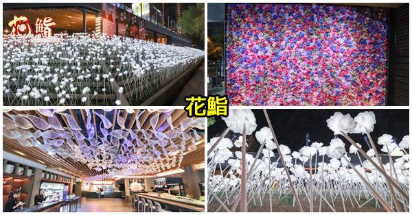 《台中.西屯》花鮨CIFOOD|18888朵白玫瑰|999朵花牆|666隻玻璃魚|網美打卡熱點