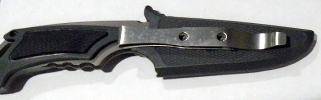 This knife was detected under the cushion of a child safety seat at New Orleans (MSY).