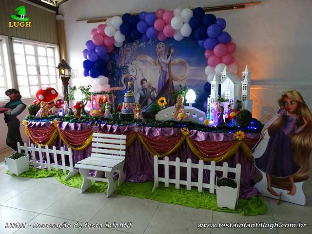 Decoração de aniversário Os Enrolados - Mesa decorativa luxo para festa infantil