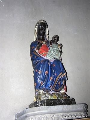 Eglise Notre-Dame du Marthuret de Riom. Vierge noire