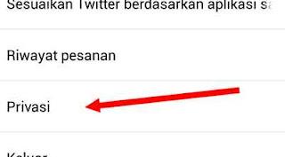 privasi tweet