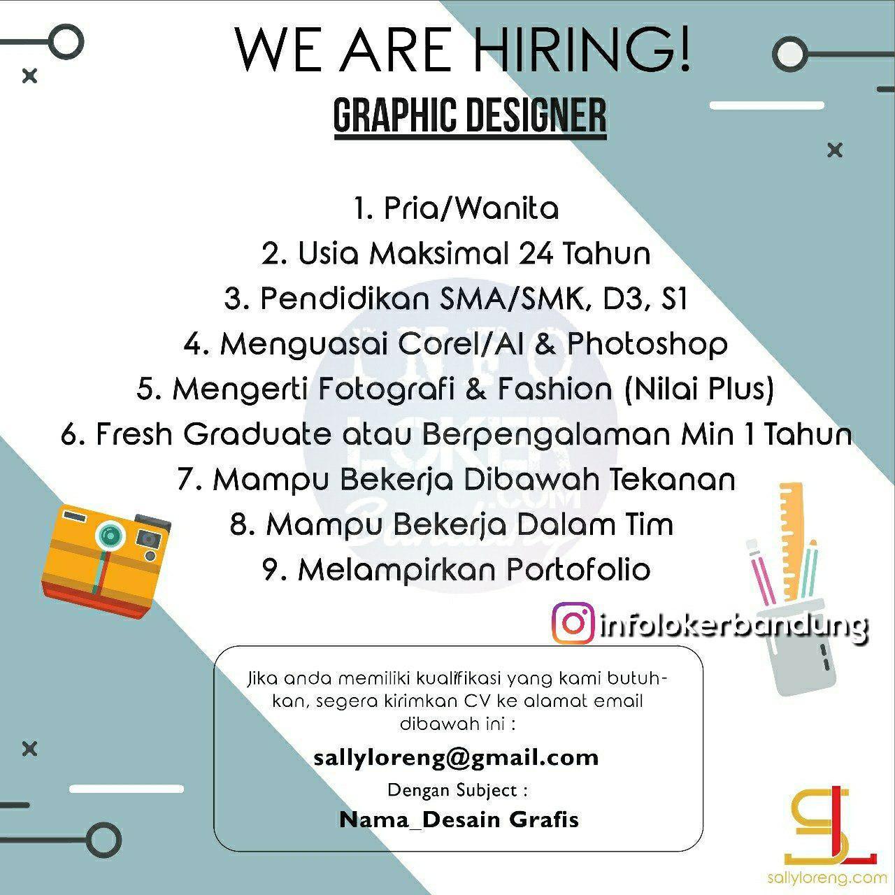 Lowongan Kerja Graphic Designer Sally Loreng Bandung Juli 2018
