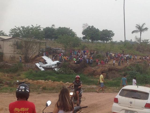 Queda de avião monomotor em novo progresso deixa quatro mortos e três agonizando
