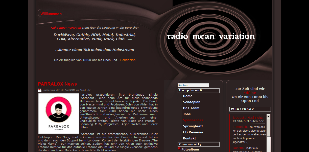 RadioMeanVariation (Germany) write about the new Aeronaut CD