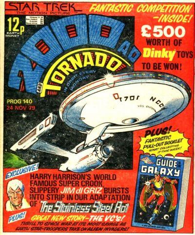 2000 AD Prog 140, Dinky Star Trek offer