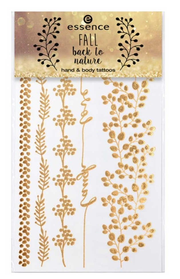 ESSENCE -  fall back to nature {Octubre 2018} - Tattoos para el cuerpo