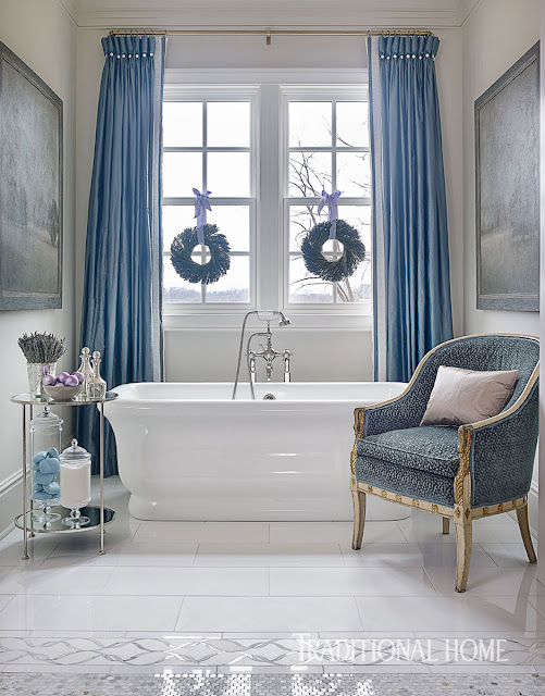 image result for beautiful bathroom tub decorated for Christmas elegant sophisticated interior design