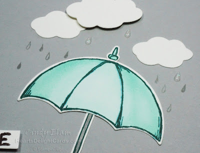 Heart's Delight Cards, Weather Together, Umbrella, Get Well, Stampin' Up!
