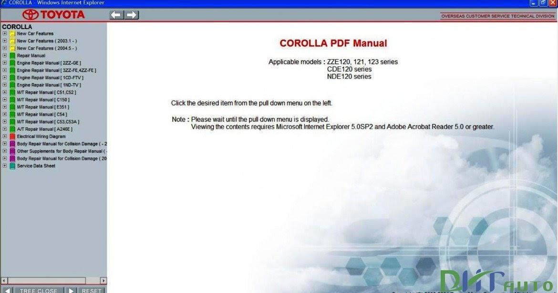 2009 toyota corolla service repair manual