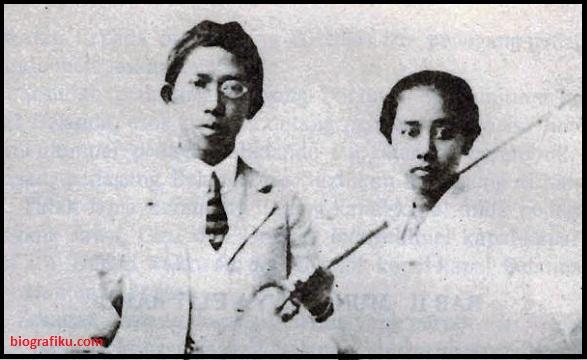 Ki Hajar Dewantara dan istri