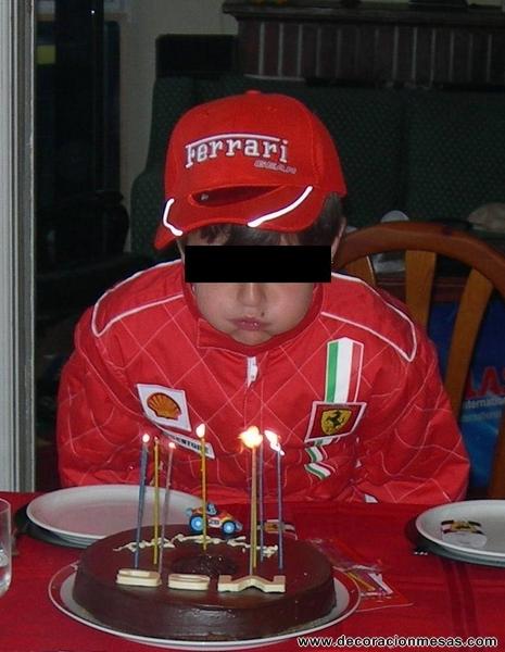 Decoracion de mesas Mesa cumpleaos de Ferrari