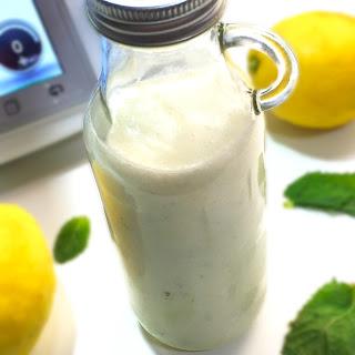 Bebida Láctea de Limón con Hierbabuena