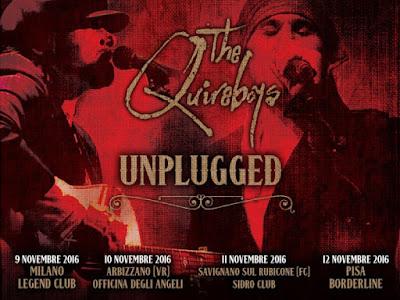 the quireboys - tour italia - unplugged - 2016