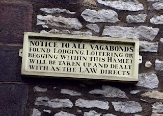 Vagabonds sign. Derbyshire Heritage