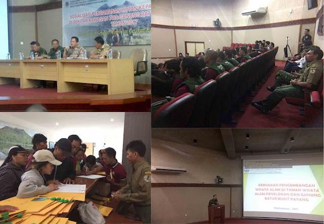 Sosialisasi Pengamanan Hutan TWA Gunung Batur
