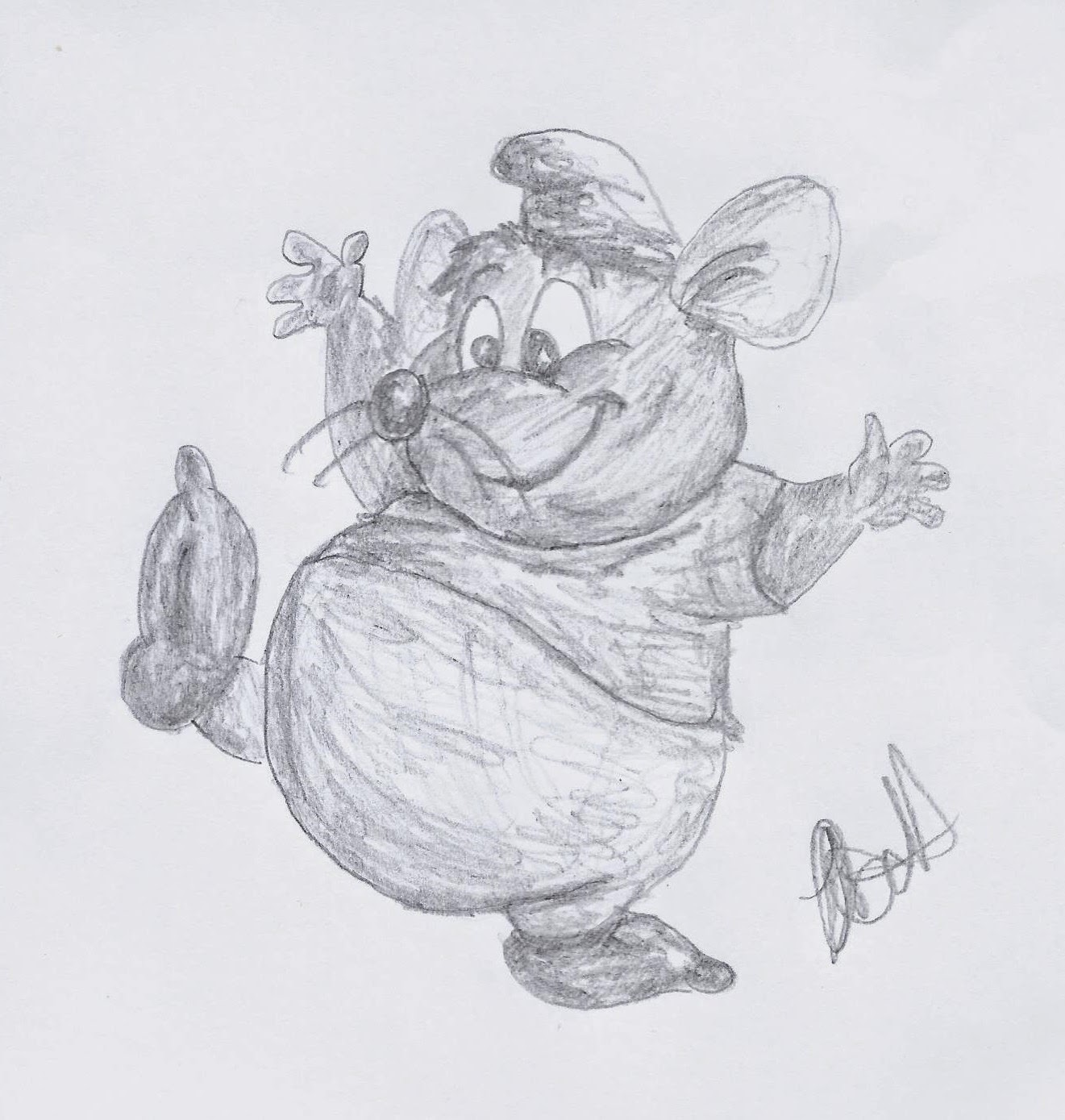 Disney Study, Gus from Cinderella, www.JoLinsdell.com #Disney #Sketches #Illustrating
