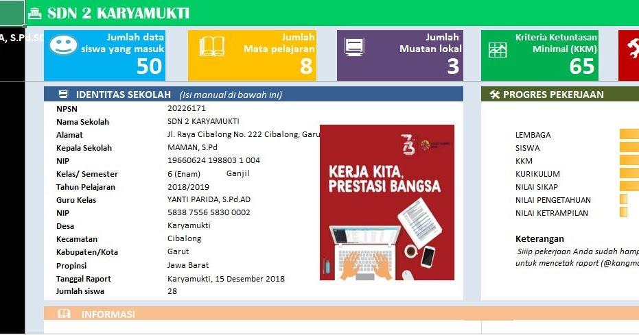 Download Aplikasi Administrasi Guru Kelas Sd Kurikulum 2013 Revisi 2018