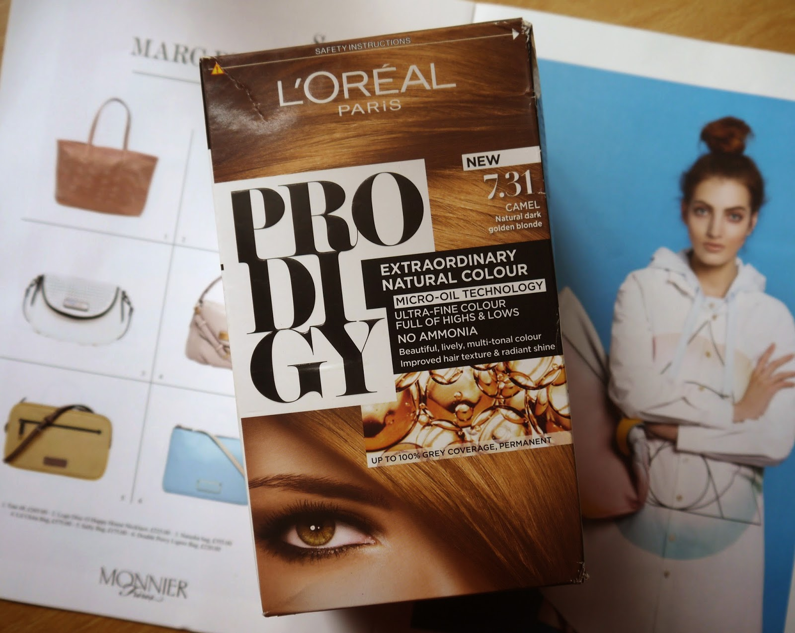 L'oreal Prodigy Hair Dye In 'Camel' // Light brown hair dye