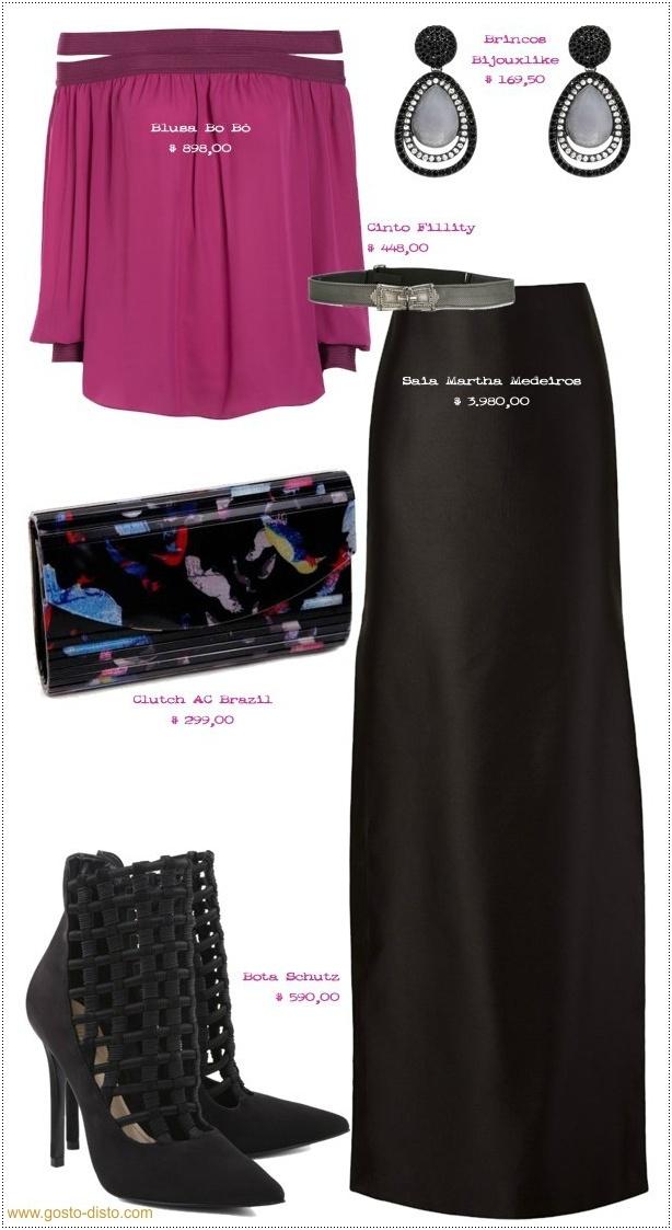 Looks de festa com saia e blusa, charmosos e chiques