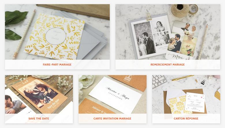 Les cartes de mariage