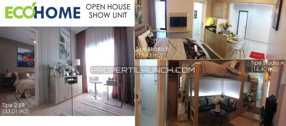 Show Unit Apartment EcoHome Citra Raya