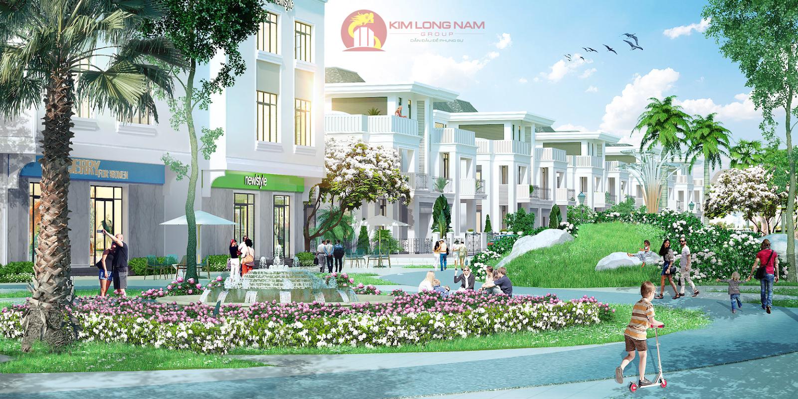 Mẫu biệt thự khu đô thị Kim Long Ocean Thuận Phước