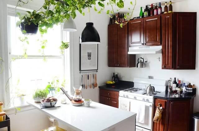 un hogar de alquiler la cocina