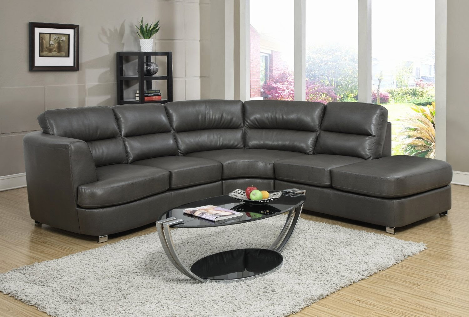 Grey Couch: Grey Leather Couch