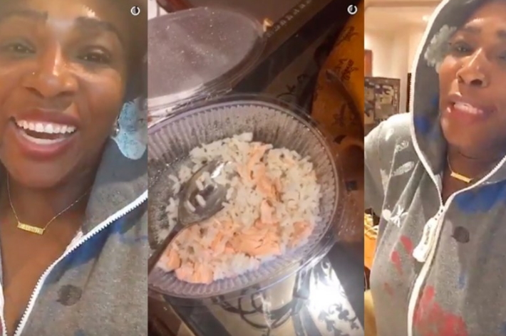 serena williams eat dog food