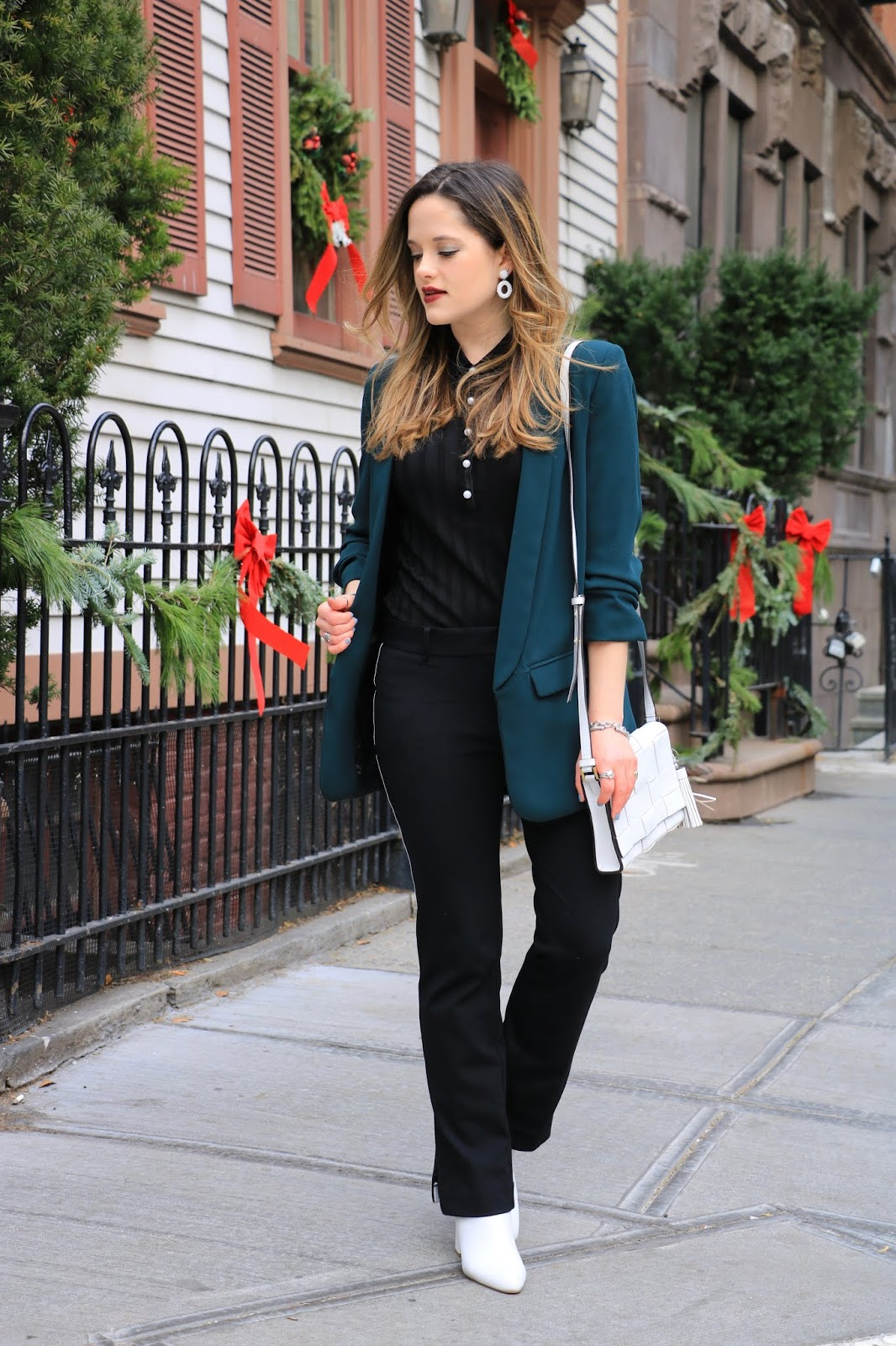Nyc fashion blogger Kathleen Harper's non-dress holiday party outfit