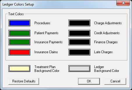 dentrix tip tuesdays customizing ledger colors in dentrix g6