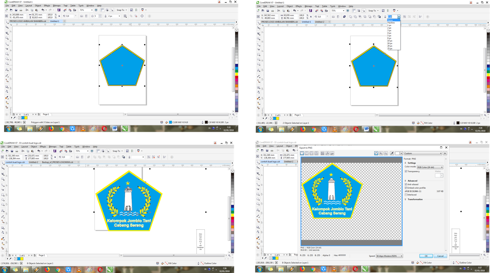 How to make logo design with easy in coreldraw x7 tehyun make sure you have a corel draw application ccuart Images