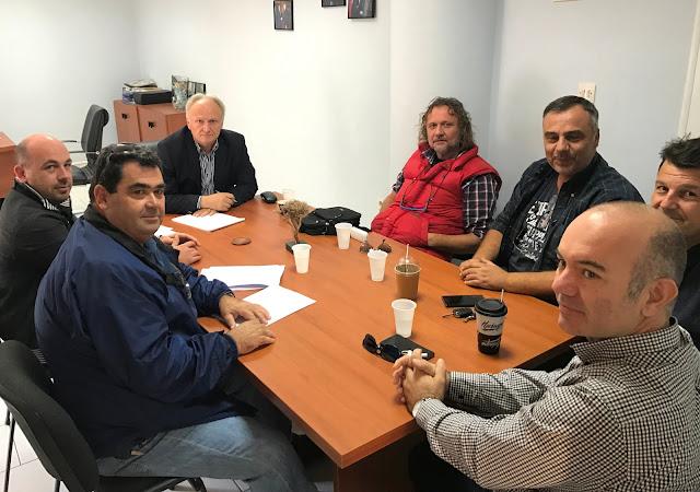 Συνάντηση Ανδριανού με μέλη του Σωματείου Εκπαιδευτών Οδήγησης Αργολίδας «Ο Αργέας».