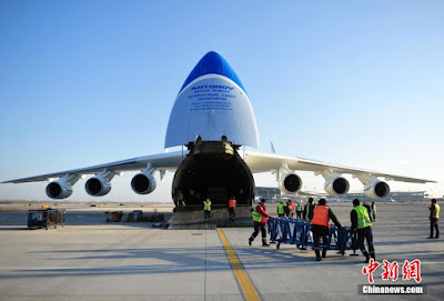 World's largest cargo plane lands in Shijiazhuang