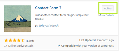 Tutorial : Masukkan Contact Form dalam Wordpress
