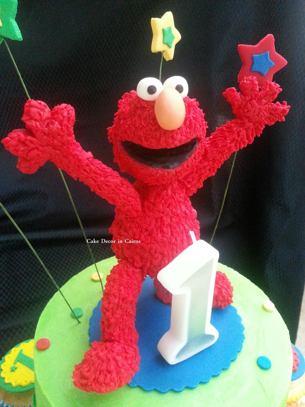 Elmo Fondant Topper Tutorial How to Make Fur  Cake Topper Coloured