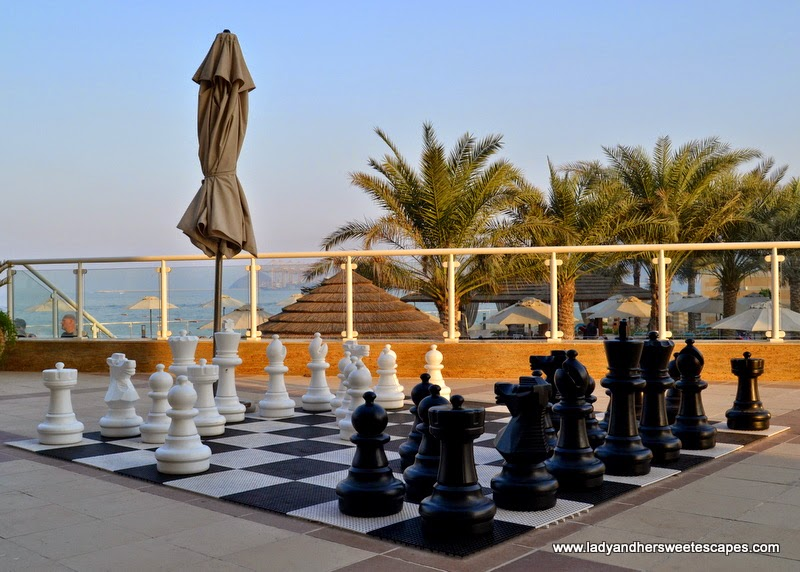 Oceanic Hotel's giant chess board
