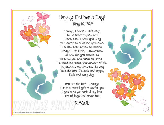 Happy Mother's day Poems Sayings from toddler