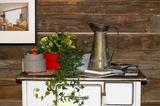 Liebevoll dekorierte Schauküche