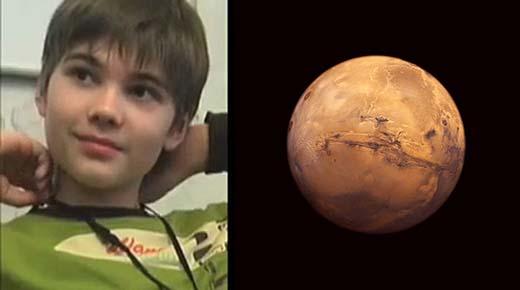 Muchacho recuerda su pasado como un ser extraterrestre de Marte y proporciona detalles fascinantes
