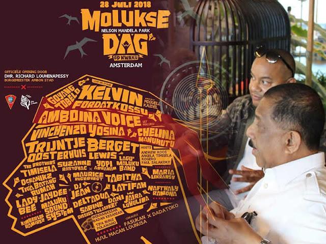 Richard Louhenapessy Buka Kwaku Summer Festival International 2018 di Amsterdam